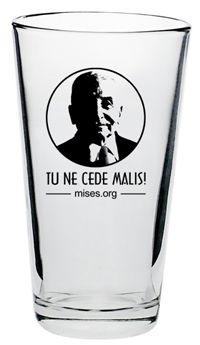 Ludwig von Mises Brew Pub Glass