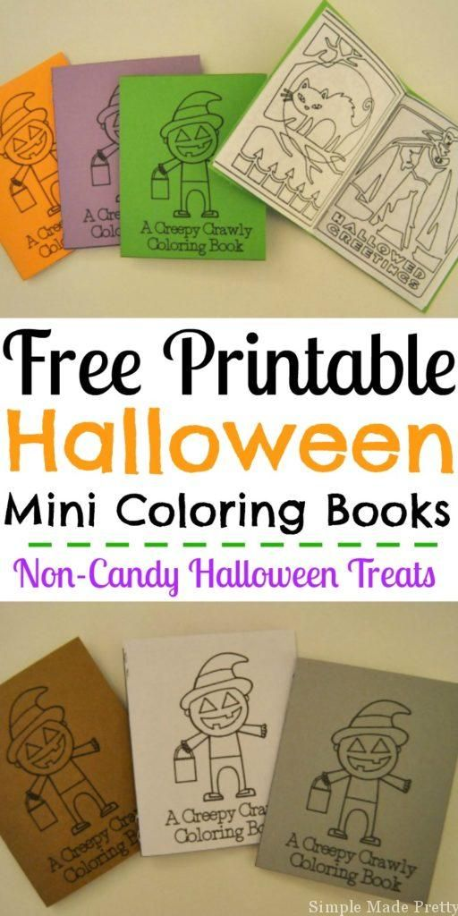 Hand Out Non Candy Treats For Halloween This Year With My Free Printable Mini Coloring Books