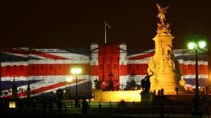 Buckingham Palace during   the 60th Jubilee