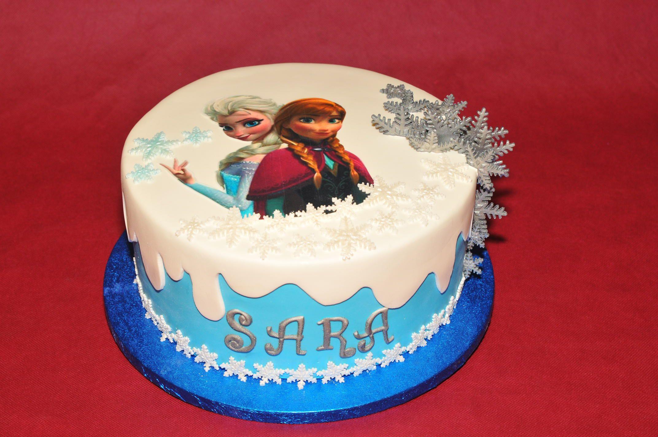 Pastel De Frozen Para El Cumpleaños De Sara Pastel Frozen Dulces Pasteles