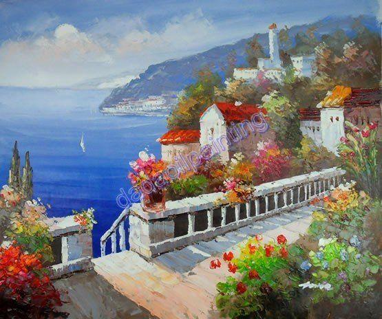 Oleos paisajes mediterraneos imagui pinturas al leo - Fotos de cuadros de monet ...