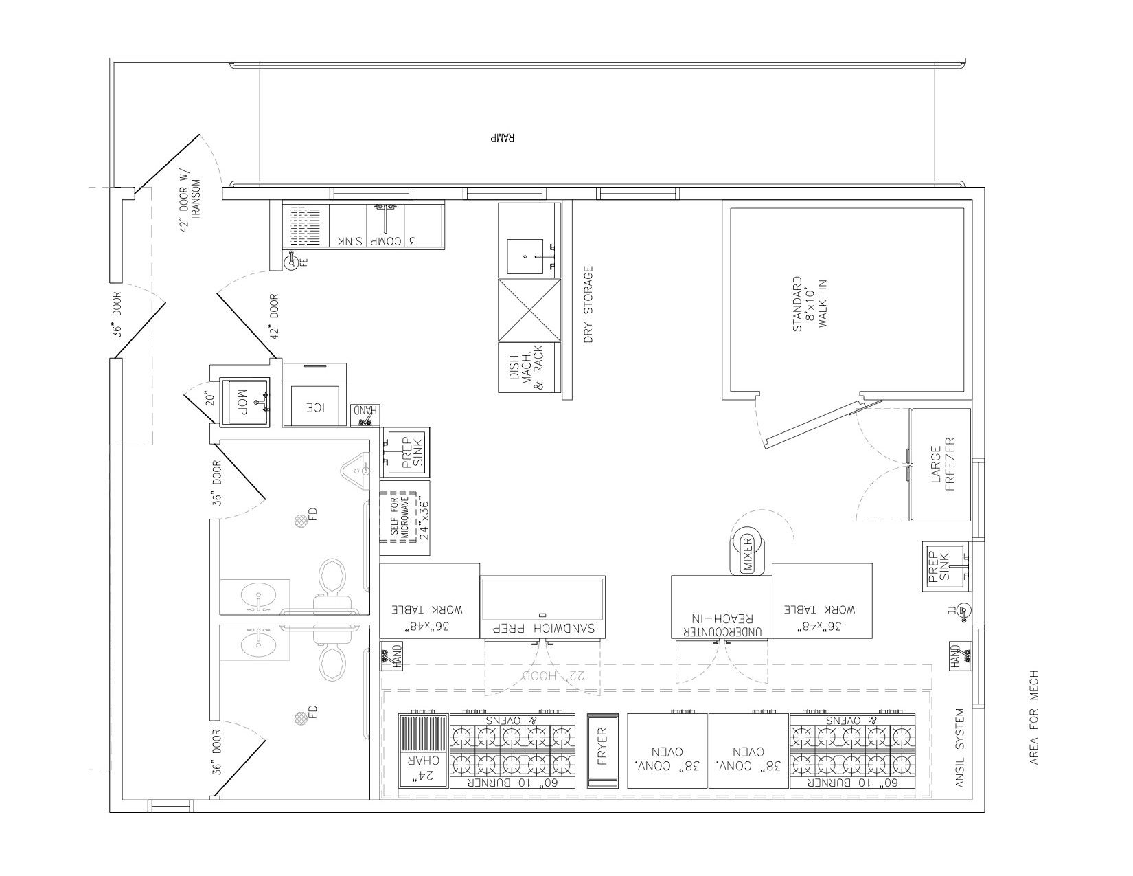 Commercial Kitchen Floor Planaustin Commercial Kitchen Kitchen Ventures Our Facility Nwtodrfq Jpg 16 Commercial Kitchen Design Kitchen Floor Plans Tile Layout