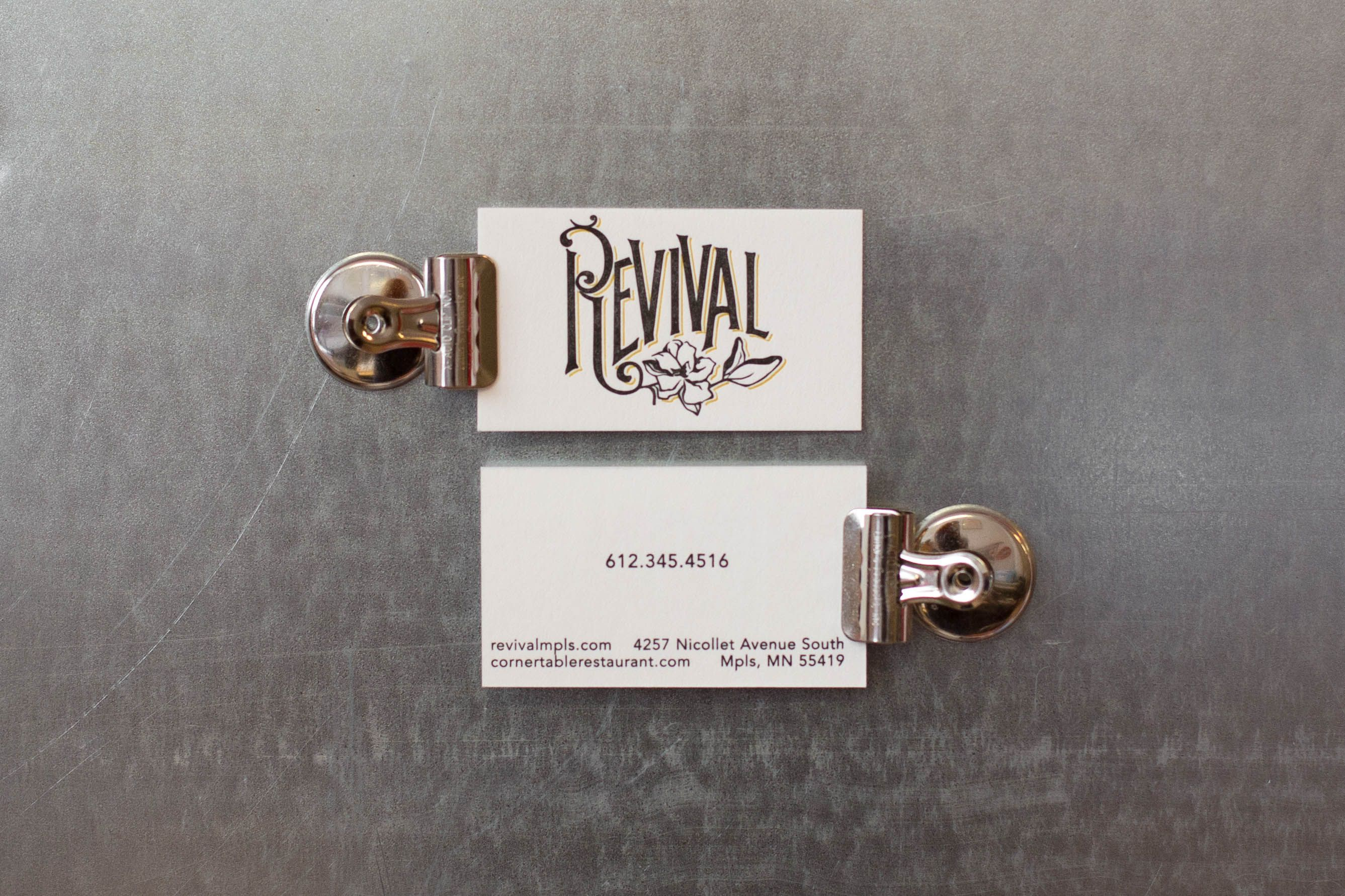 2 color business cards for the best southern restaurant in ...