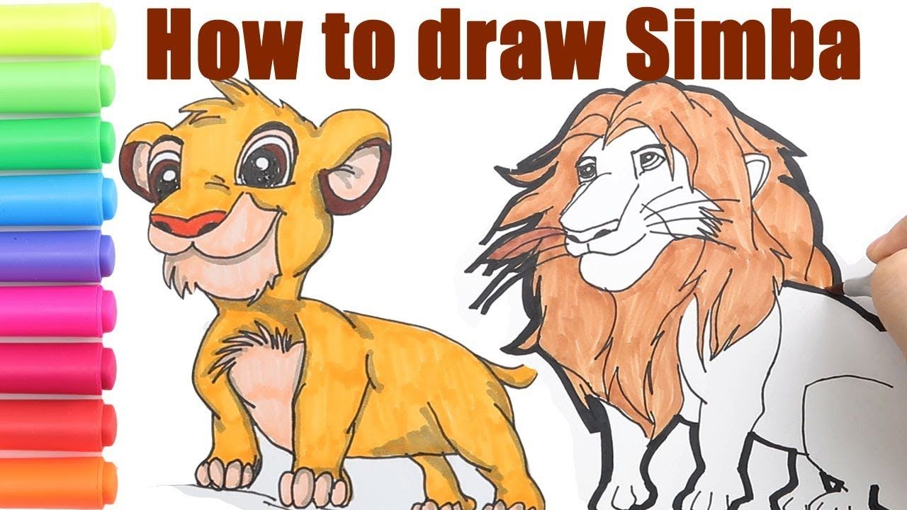 How To Draw Simba From The Lion King How To Read And Spell The