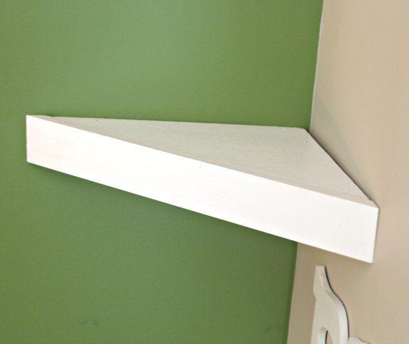 How To Build A Corner Shelf In 7 Minutes Diy Corner Shelf