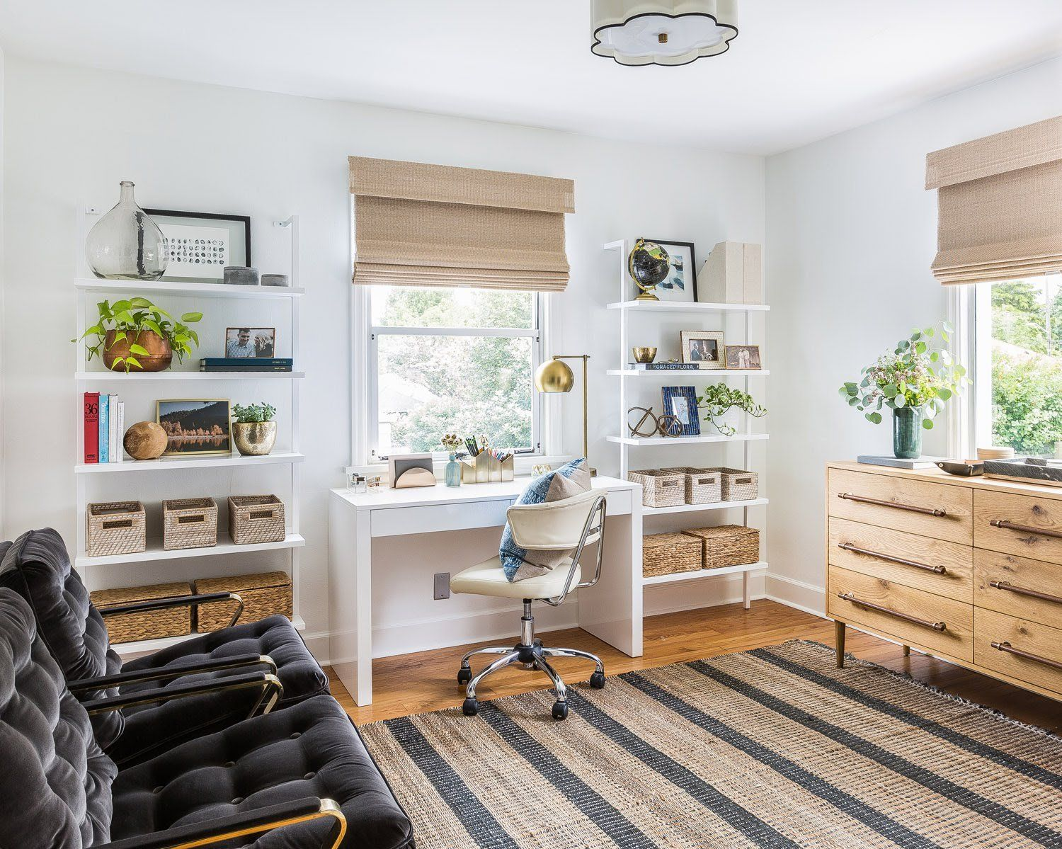 Home office and shelf styling west elm - Eclectic Glam Style In ...