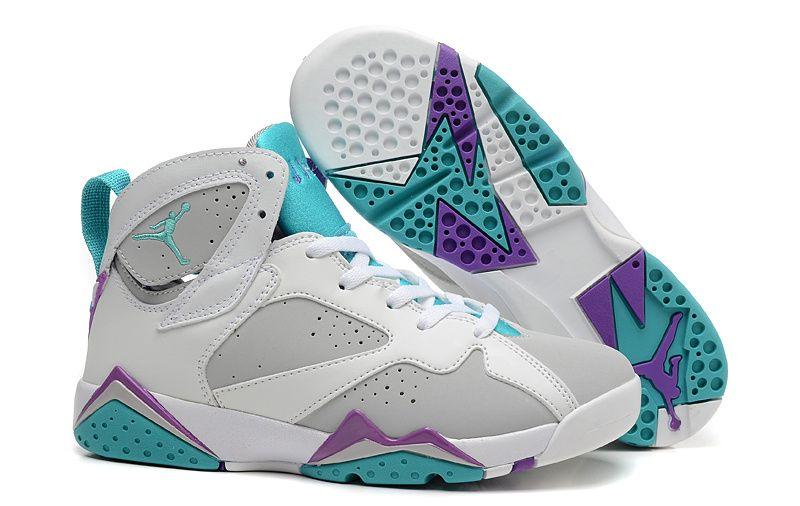 big sale 8d49c 35175 Air Jordan 7 Retro Girls Neutral Grey Mineral Blue-Bright Violet-White  Women Air Jordan 7 - Nike official website Up to 50% discount