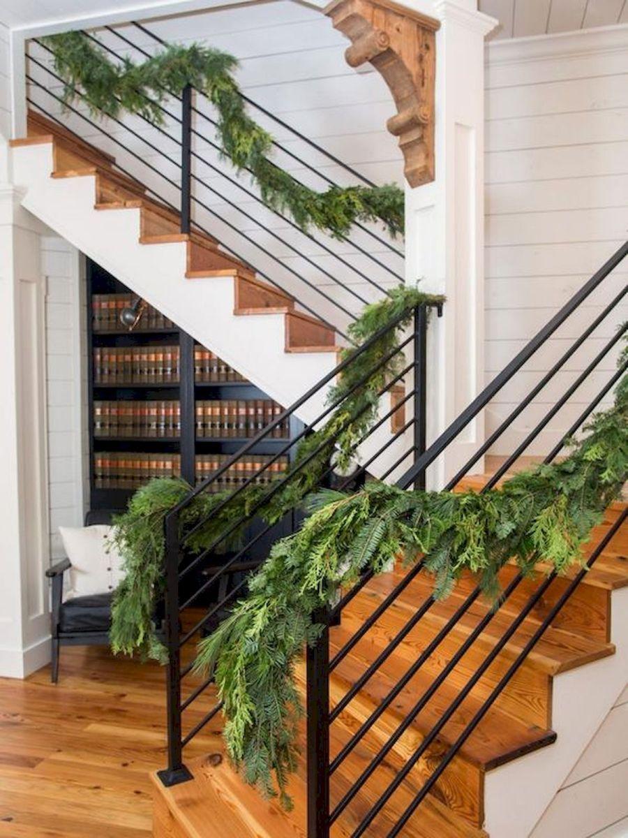 33 Ultimate Farmhouse Staircase Decor Ideas And Design 1 In 2020 Exterior Stairs Staircase Decor House Stairs