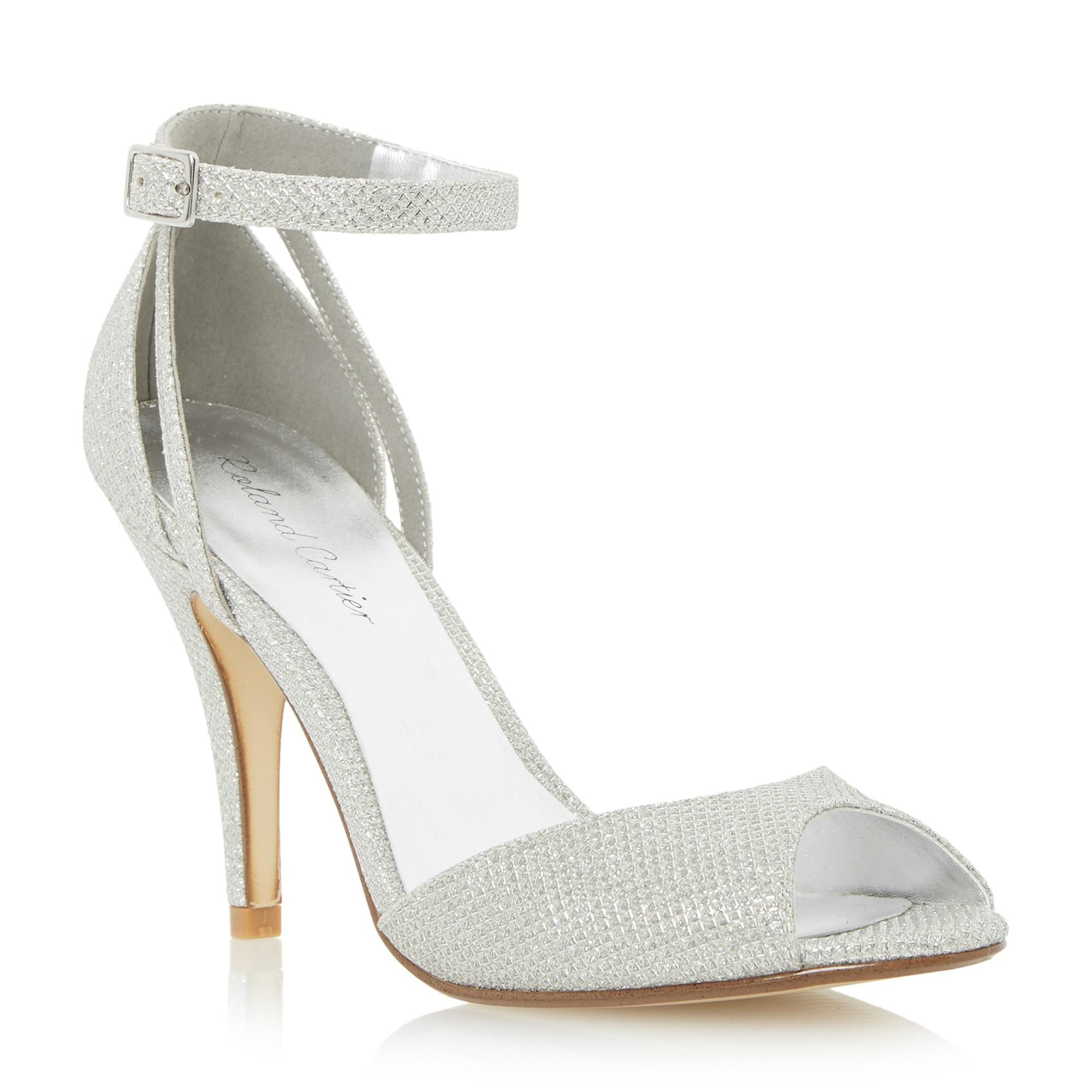 Roland Cartier Las Marla Two Part Heeled Dressy Sandal Silver Dune Shoes Online