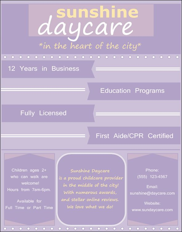 Modern Baby Daycare Flyer Psd Mockups   Flyer Template And