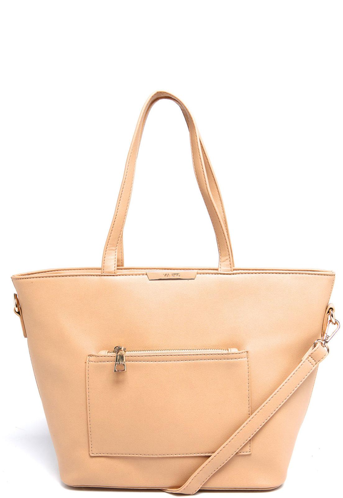 b87ce4655 Bolsa Trapézio VIA UNO Bolso Bege | Products | Pinterest | Bags ...
