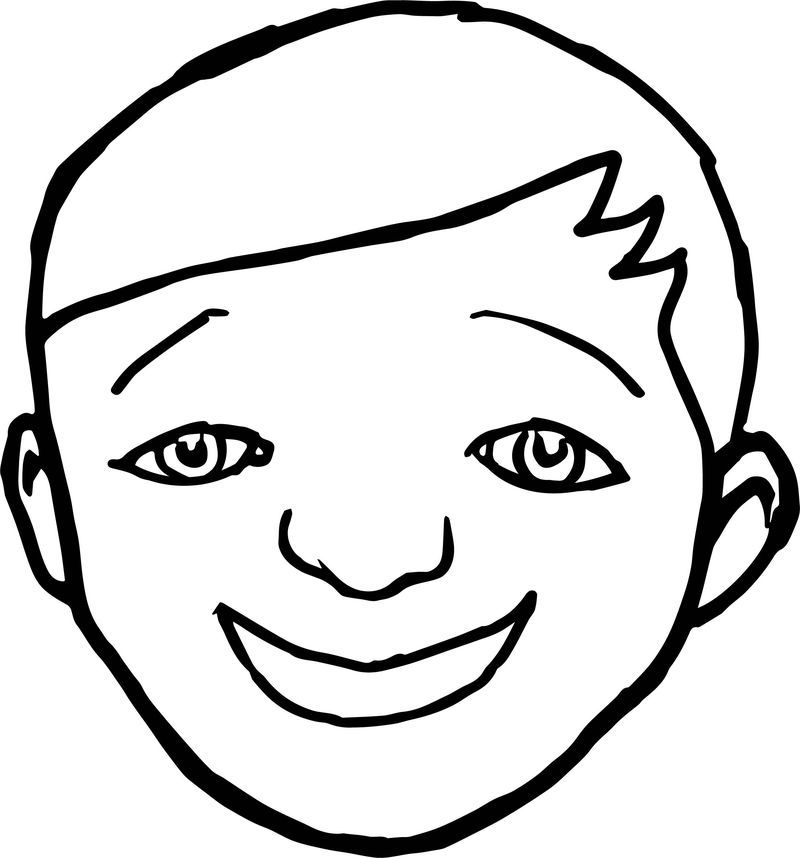 Blank Coloring Pages Printable Face Template Face Outline Blank Coloring Pages