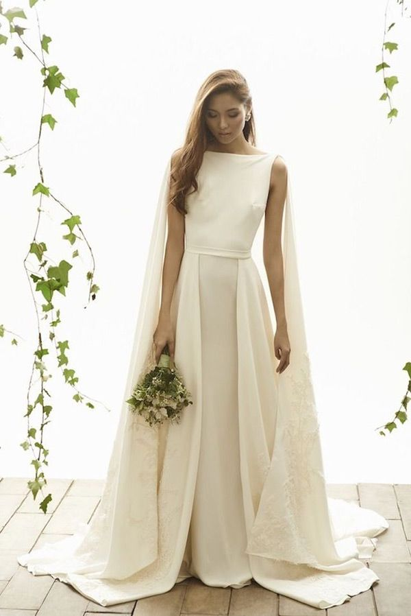 8a3eae5f678e Who says you can't add unique flare to a traditional bridal gown?! Here are  19 gorgeous wedding dresses with capes! #ThePerfectDress #DTTSWedding