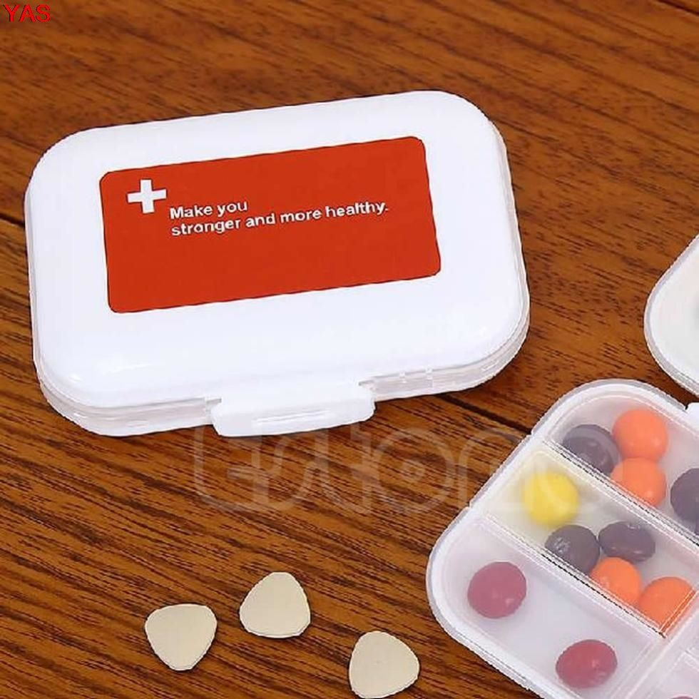 YAS 1Pc 8slots Moistureproof Storage Container Case Medicine Box Pill Holder & YAS 1Pc 8slots Moistureproof Storage Container Case Medicine Box ...