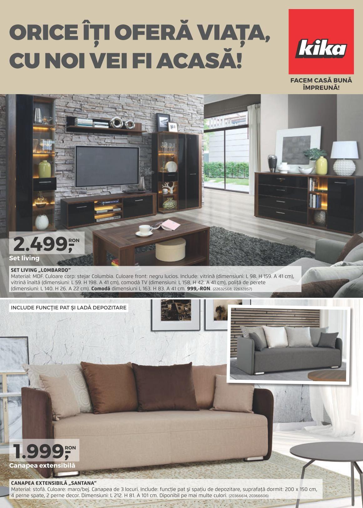 Catalog kika oferte mobilier romania august 2017 design si mobila pinterest romania for Catalogue mobilier design
