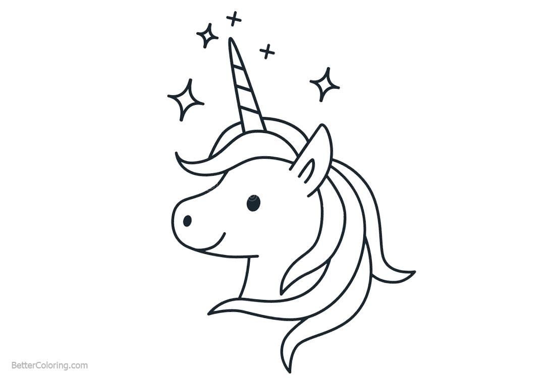 10 Free Printable Unicorn Head Coloring Pages