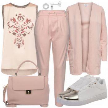 Rose Damen Outfit Komplettes Freizeit Outfit günstig