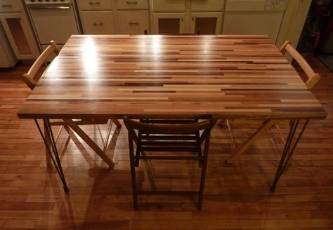 Diy Dining Table With Butcher Block Top