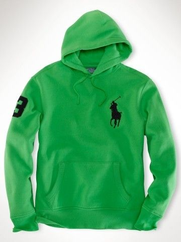 polo ralph lauren waffle shirt   Hot sale Ralph Lauren Mens Neon Big Pony  Fleece Hoodie Sport Gre 159c42e8805c