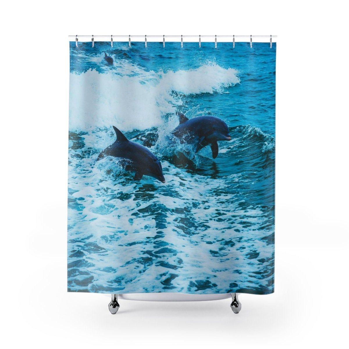 Dolphin Shower Curtain Dolphins Shower Curtains Beach Decor