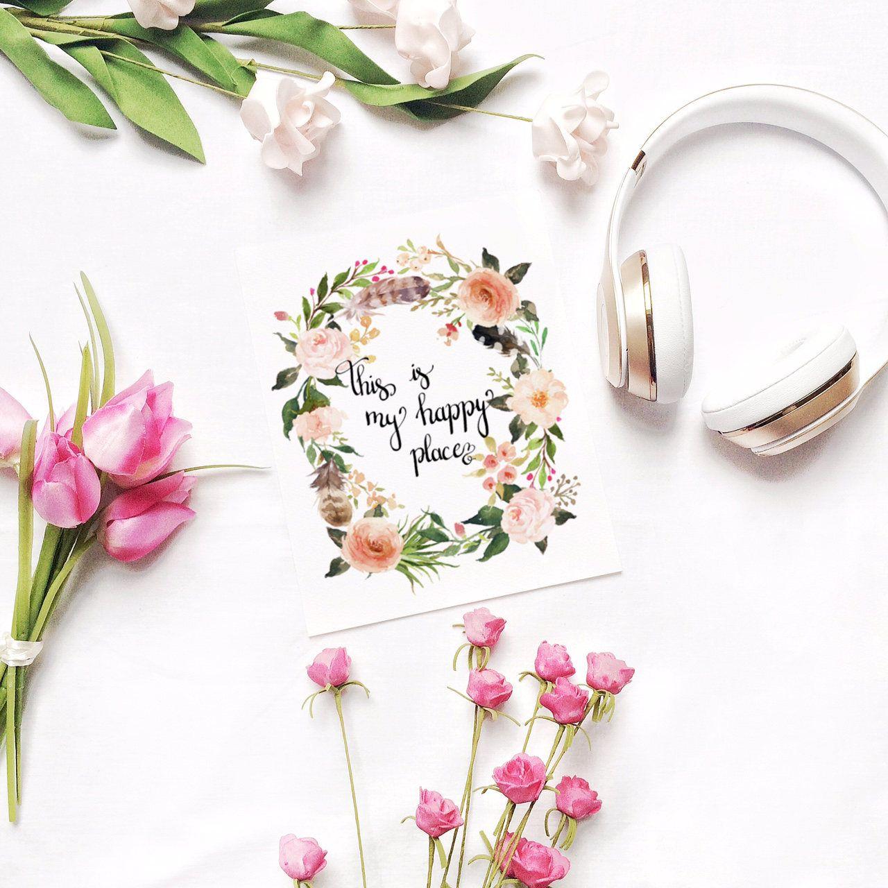 Kunstdruck Digital Bild Poster Blumen Poster Zitate Spruch