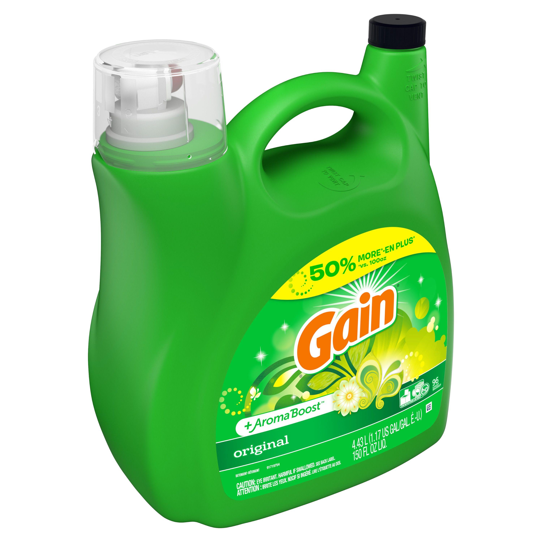 Gain Aroma Boost Liquid Laundry Detergent Original 96 Loads 150 Fl Oz Ad Liquid Sponsore Laundry Liquid Laundry Detergent Gain Liquid Laundry Detergent