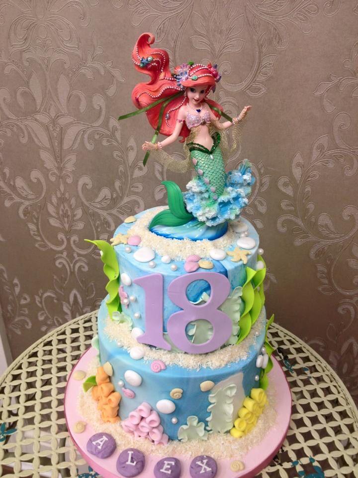 Ariel Cake - Torta di Ariel realizzata interamente a mano