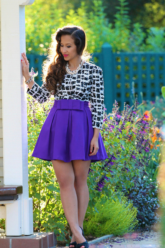 #ktrcollection.com        #Skirt                    #Double #Skater #Skirt #Purple                      Double Bow Skater Skirt in Purple                                             http://www.seapai.com/product.aspx?PID=84926