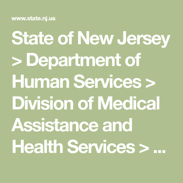 State of New Jersey > Department of Human Services