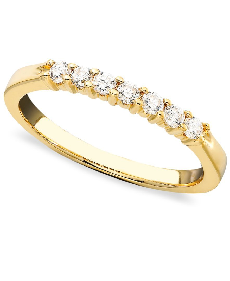 Seven Diamond Band Ring in 14k Gold (1/4 ct. t.w.)