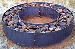 Metal Steel Fire Pit Ring Liner Double Wall Fire Pit Steel Fire Pit Ring Fire Pit Ring