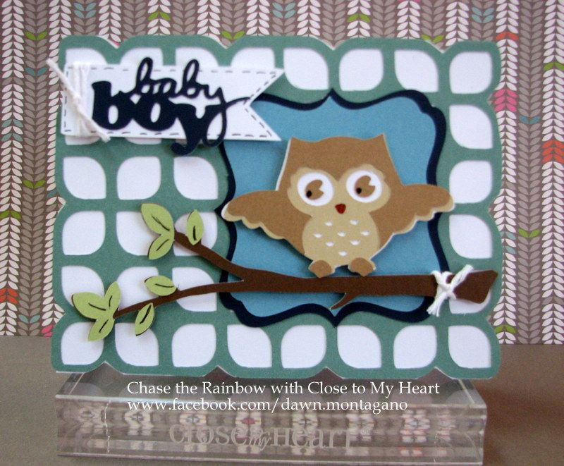 Baby boy card using Close to My Heart products and the ...