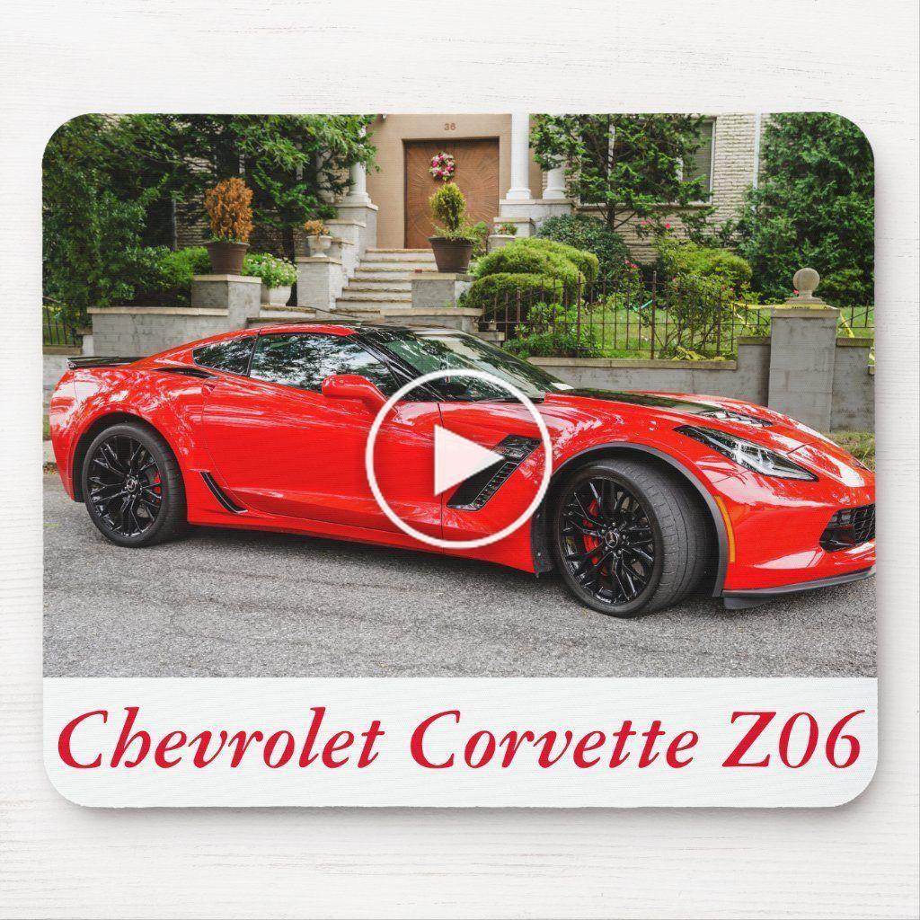 Red C7 Chevrolet Corvette Mouse Pad in 2020 Chevrolet