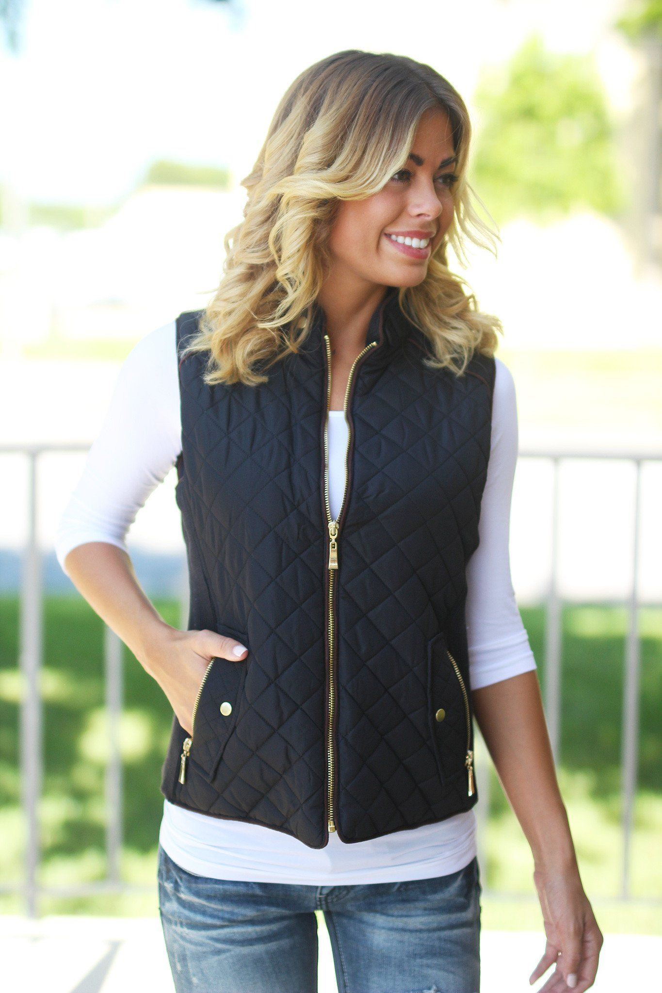 products andrew with quilt panels silver quilted womens s ribbed and light knit vest women marc side collar