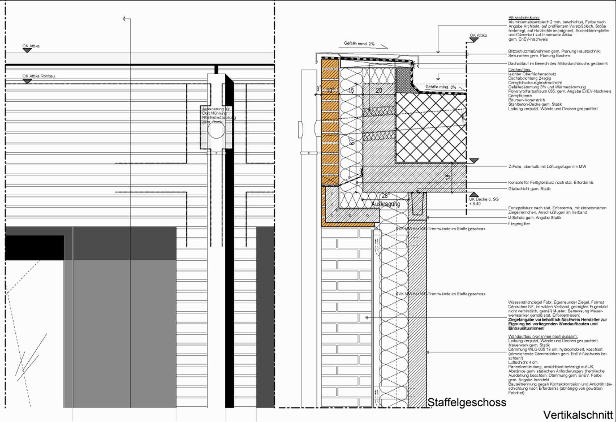 Holzbau flachdach detail  Wohnbebauung Kleine Horst in Hamburg - Flachdach - Wohnen ...
