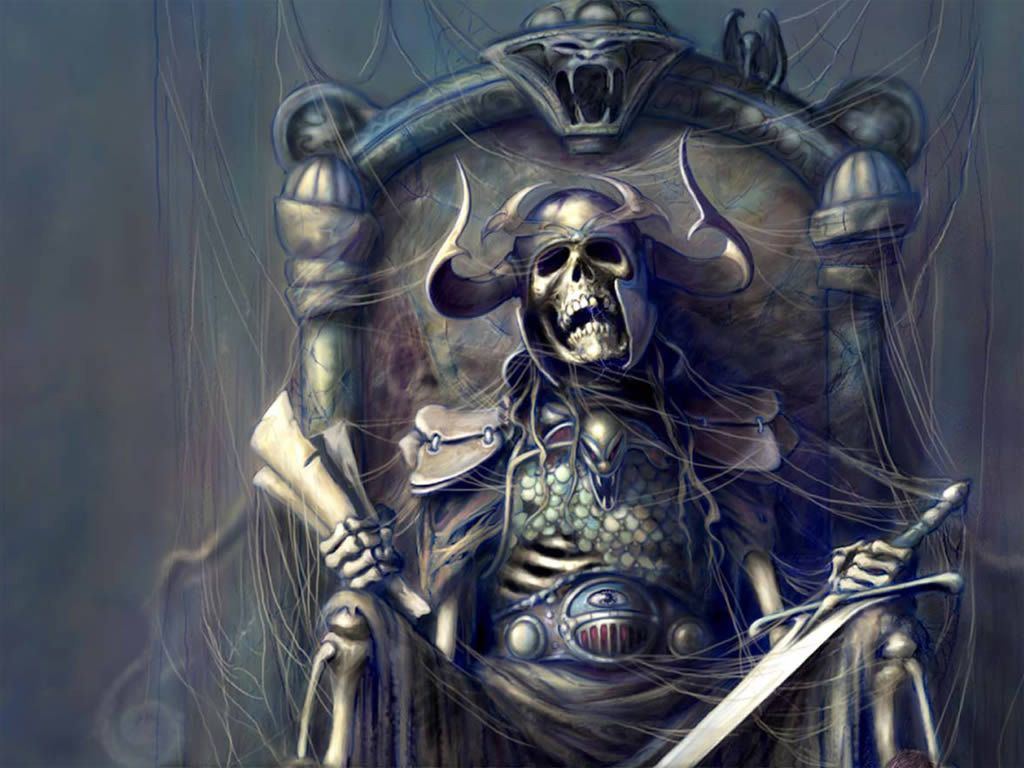 Undead King On Throne Wallpaper Fantasy Dark Art And So On