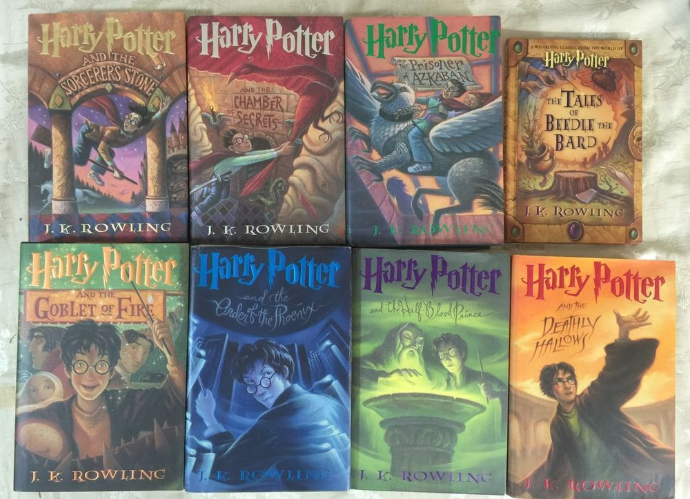 Harry Potter Books 1 7 Hcdj Complete Set J K Rowling Tales Of Beedle Bard Harry Potter Book Covers Novel Harry Potter Harry Potter Books