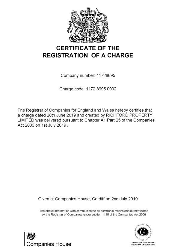 HSBC UK Bank PLC (Legal Mortgage) for Richford Property Limited - C