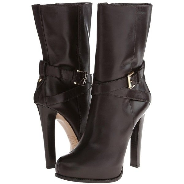 Be sexy and beguiling in the Dsquared2™ Vitello Ankle Boot. Smooth leather upper with tonal stitching. Inside zip entry. Cross foot adjustable strap with buckl…