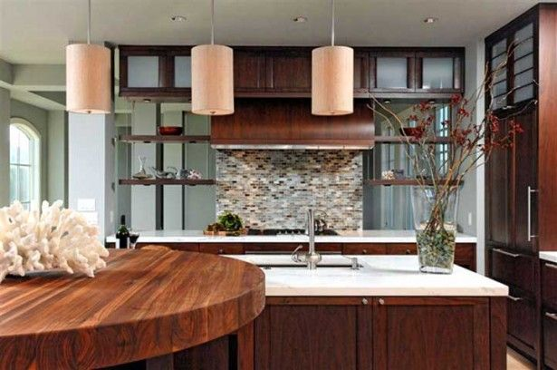 Contemporary Home Design, Cool Minimalist Wood Kitchen Modern