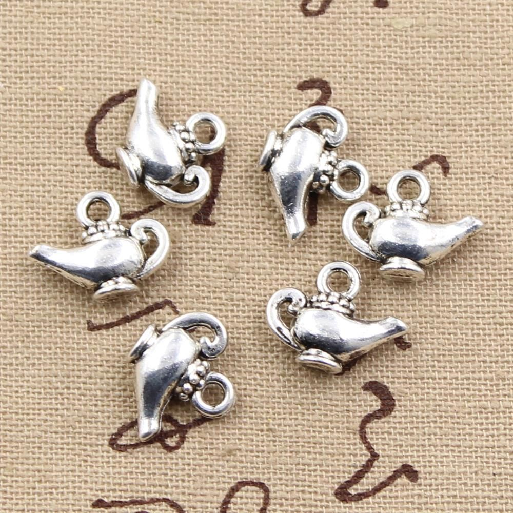 Pcs charms aladdin magic lamp genie mm handmade craft pendant