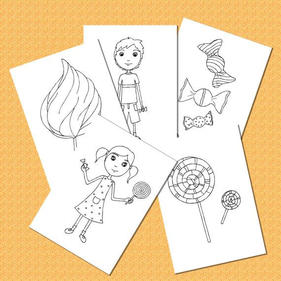 Set de 5 Páginas para Colorear para Niños por JarilloColoringArt ...