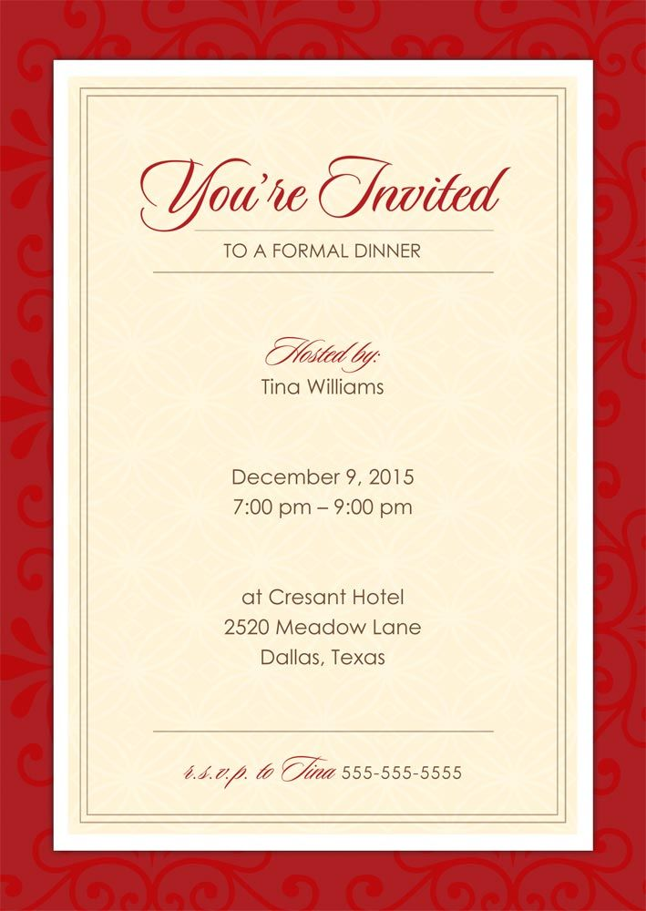 Download How to write Invitation Card in less than 5 Minutes - dinner invite templates