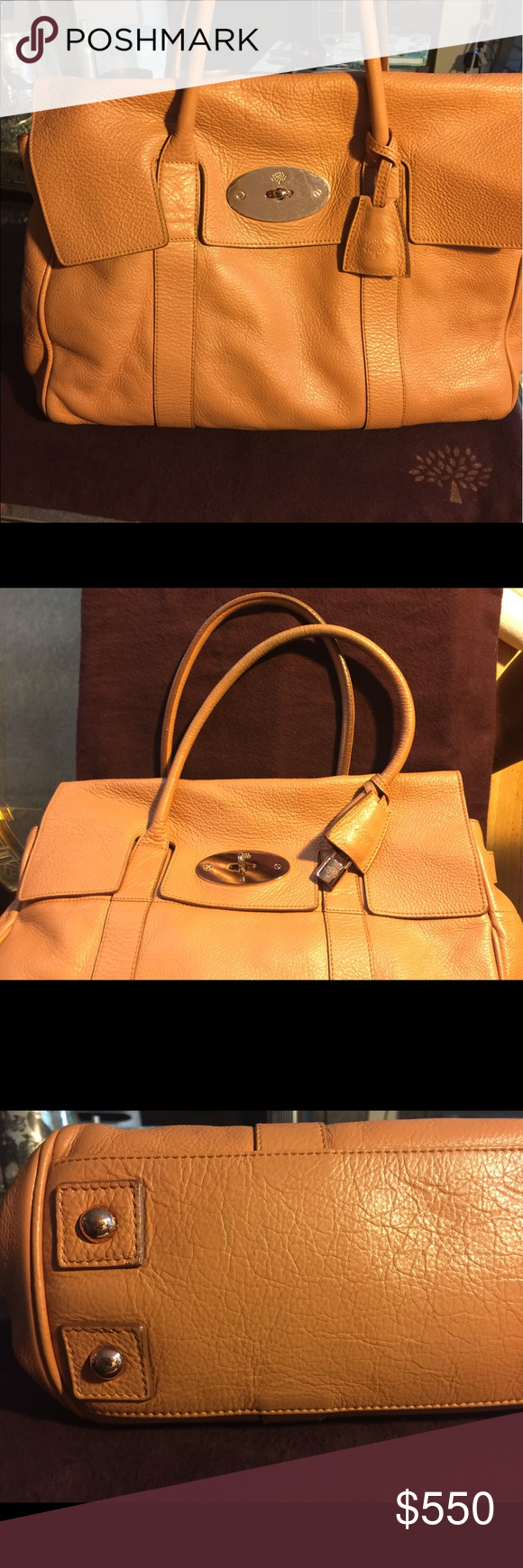 8295874963 Mulberry Bayswater Camel Rose Gold Hardware Bag 100% Authenticity  Guaranteed. Mulberry Bayswater bag purchased