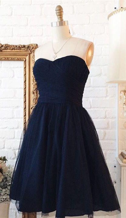 short navy blue prom dress homecoming dress, 2019 short prom dress homecoming dress, navy blue party dress #hocodress #promdress #2k19prom #partydress #dancingdress #navyblueshortdress