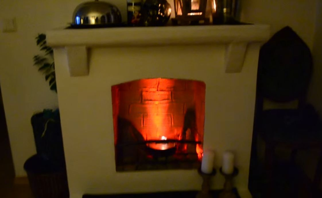 fireplace flame in built an electric fake how to make insert look