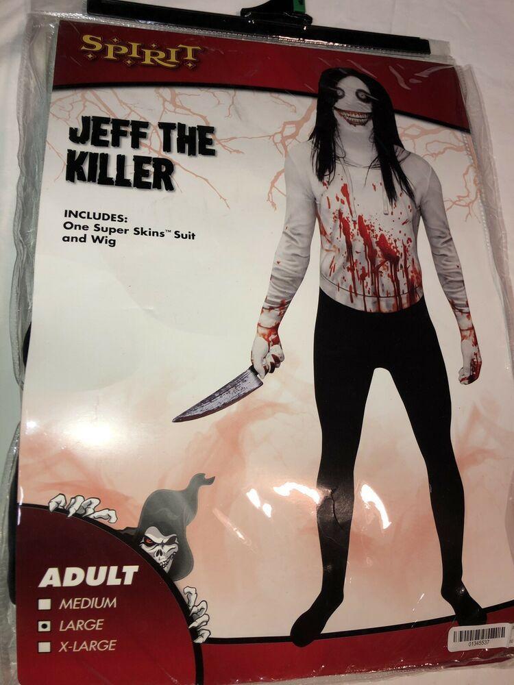 Mens Jeff the Killer Halloween Fancy Dress Costume Mask Wig Creepypasta Horror