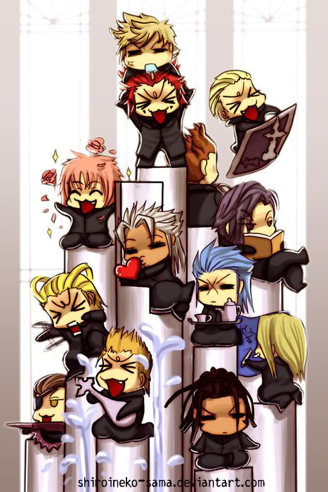 Chibi Organization Xiii Kingdom Hearts Organization Xiii And