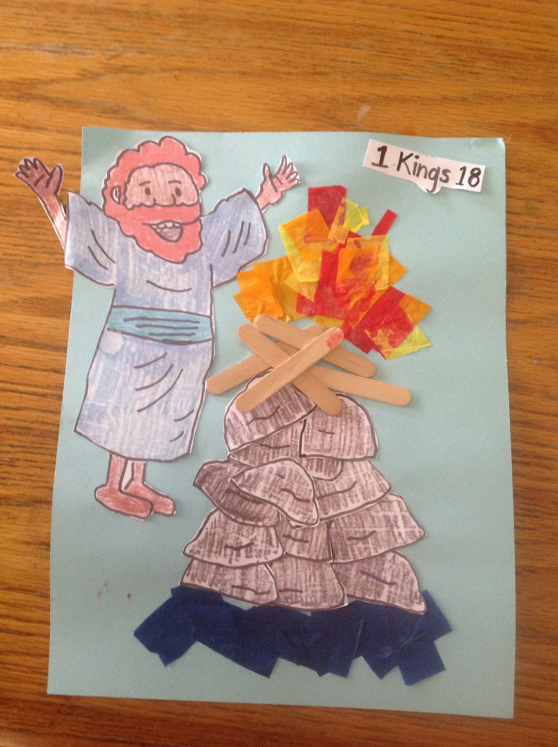 Elijah and the prophets of baal bible crafts by let for Bible story crafts for kids
