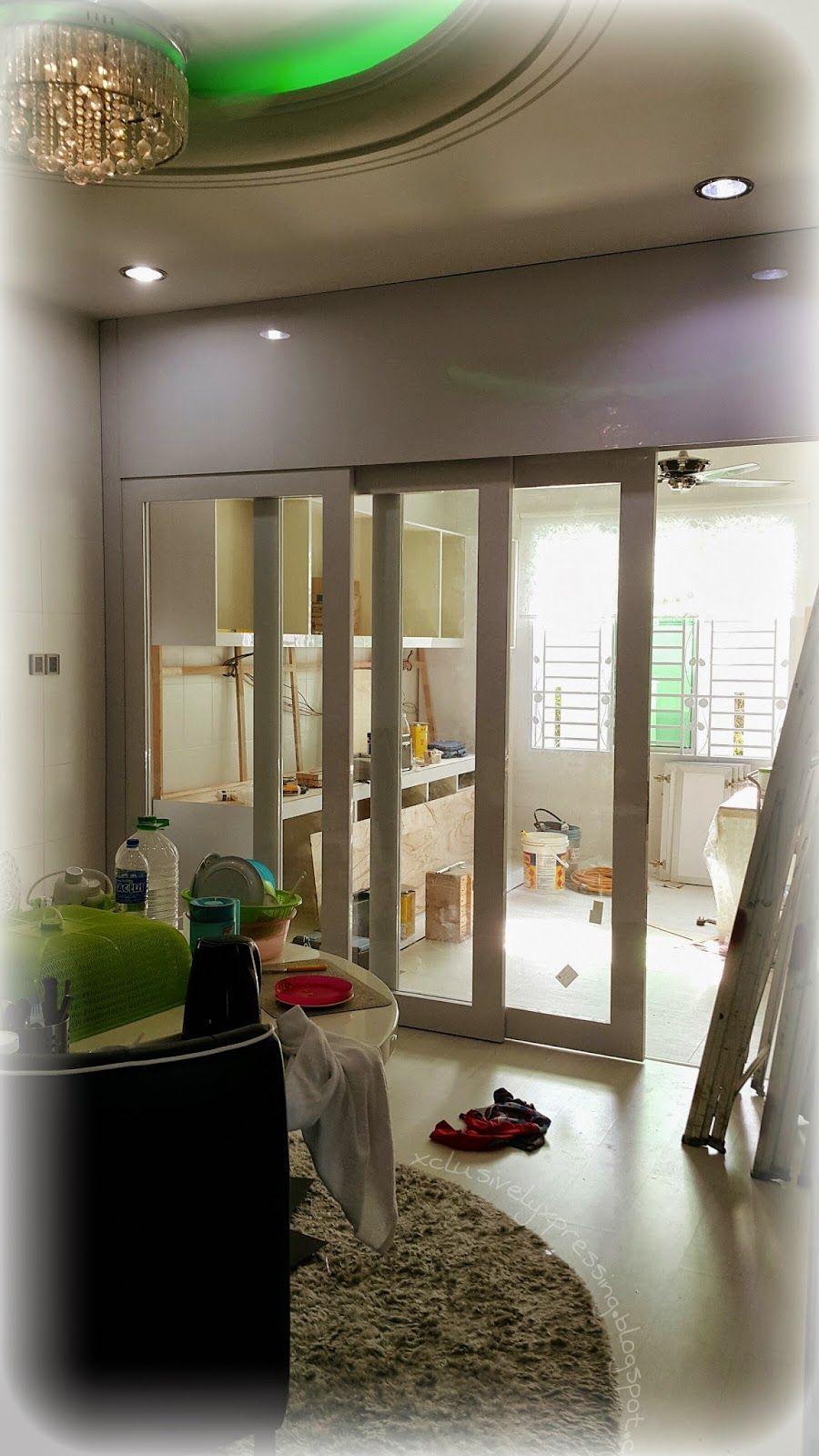 My Xclusively Xpressing Renovasi Indoor Sliding Door Rajin Tak Pinterest Doors And
